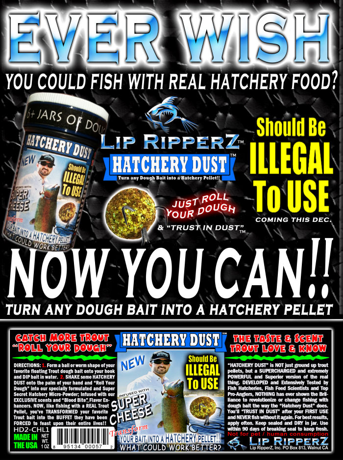 now available lip ripperz hatchery dust !! – fishinglakes, Fly Fishing Bait