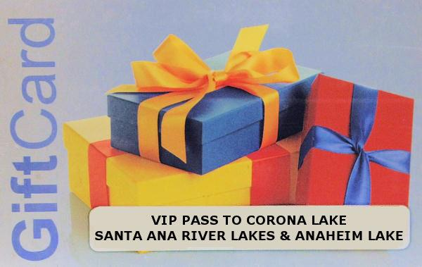 Gift cards available for purchase for Santa ana river lakes fishing tips