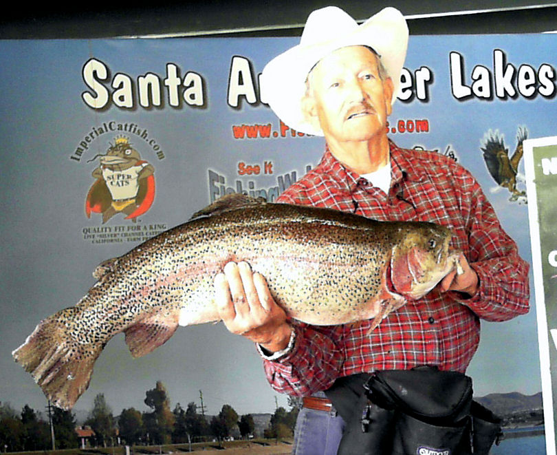 Big news huge trout just stocked get discount for Santa ana river lakes fishing