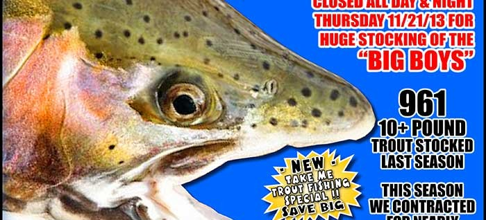 Suuuper troout grand opener nov 22nd 23rd 24th for Nd game and fish stocking report