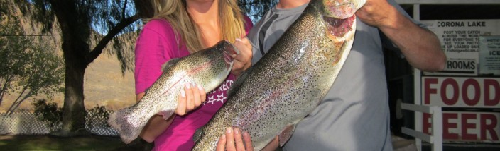 Brittany Hammond 10 pound 8 ounce trout - Corona Lake
