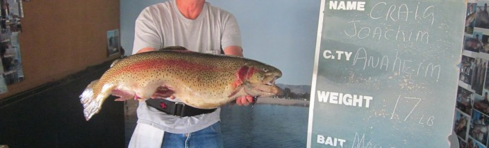 Craig Joachim with his largest trout - 17 pounder -SARLr