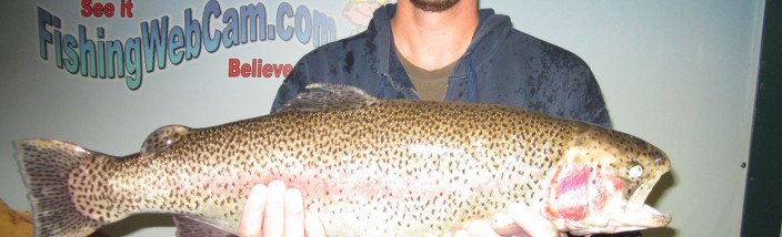 Greg Taylor of Ontario 11 pound 3 ounces - using green powerbait at the Corona Lake dam