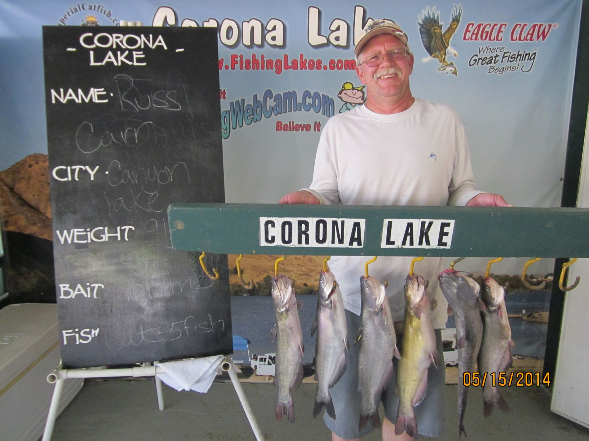 Current fish report 5 20 14 for Corona lake fishing