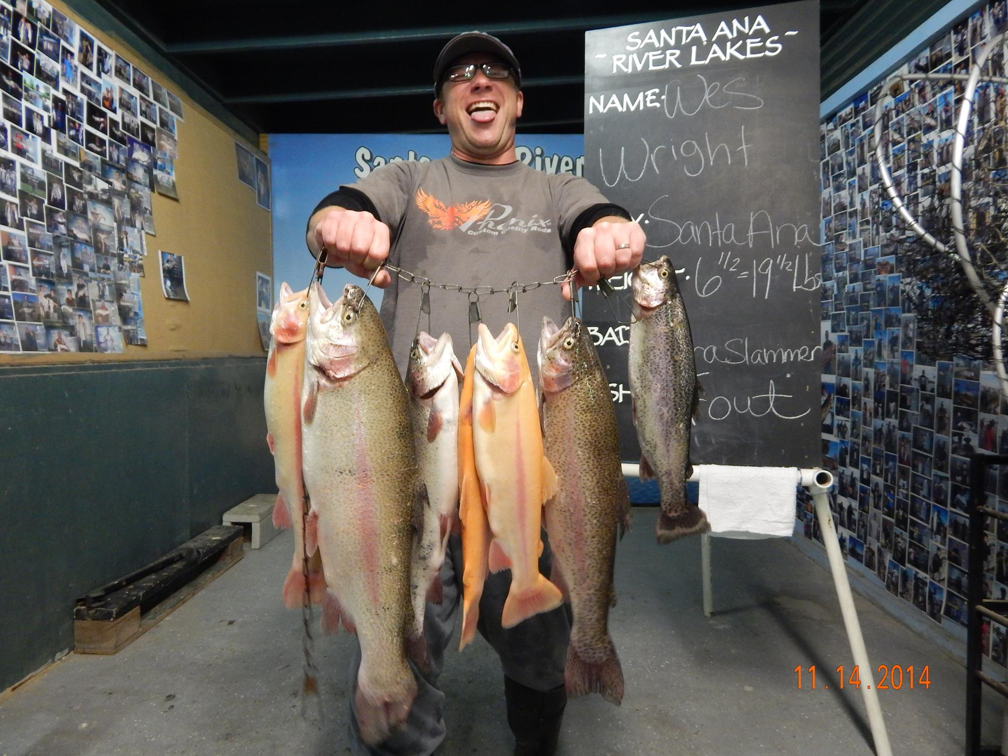 Current fish report 11 18 14 for Santa ana river lakes fishing