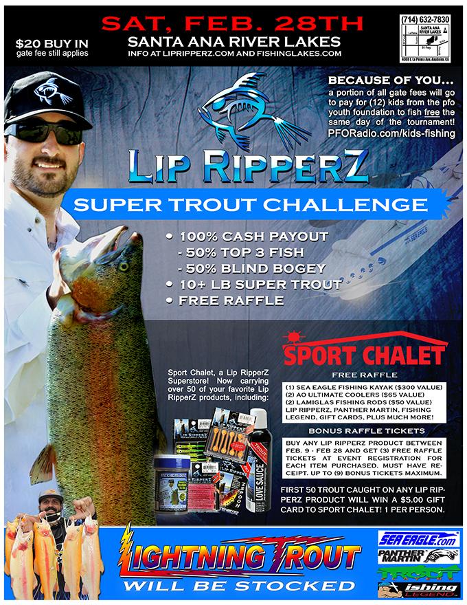2 28 15 lip ripperz super trout challenge ii at santa ana for Santa ana river lakes fishing tips