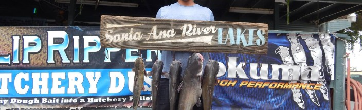Adolfo Silva III of Orange County caught 5 catfish totaling 24 pounds