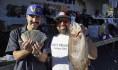 Carlos Sanchez of Orange caught a 8 pound trout