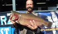 Jose Barba of Anaheim caught a 5 pound 2 ounce trout fishing with a jig in Chris' Pond