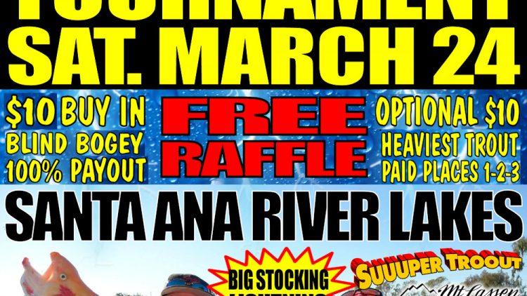 The big okuma lightning trout tournament sat march 24 for Santa ana river lakes fishing